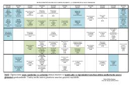 İktisat Bölümü Güz Dönemi B Şubesi 1. ve 2. Öğretim Final Sınav