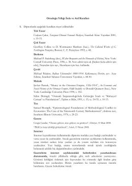 Ortadoğu Yıllığı İmla ve Atıf Kuralları 1. Dipnotlarda aşağıdaki