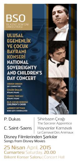 Program Broşürü - Bilkent Senfoni Orkestrası