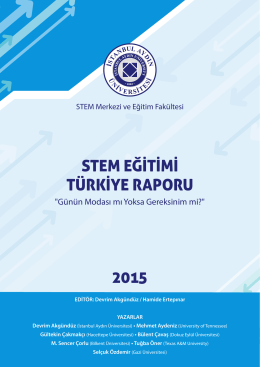 2015 STEM EĞİTİMİ TÜRKİYE RAPORU