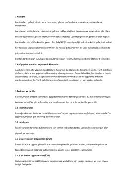 helal sertifikasyon standardı