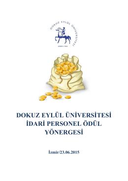 dokuz eylül üniversitesi idari personel ödül yönergesi