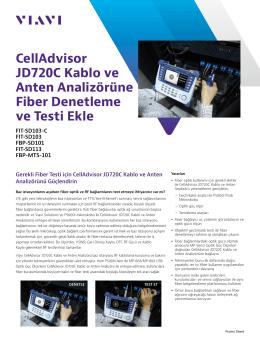 CellAdvisor JD720C Kablo ve Anten Analizörüne Fiber Denetleme