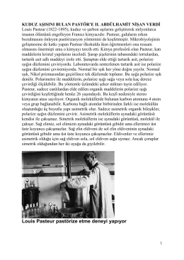Louis Pasteur pastörize etme deneyi yapıyor