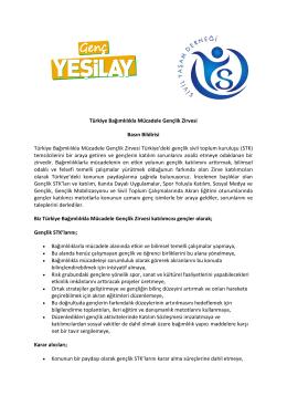 Türkiye Bağımlılıkla Mücadele Gençlik Zirvesi Basın Bildirisi Türkiye