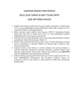 sarphan finans park projesi 08.01.2016 tarihli 8