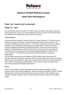 Reliance SCADA Referans Projesi Solar Park