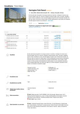 Konaklama - Tesis bilgisi Harrington Park Resort