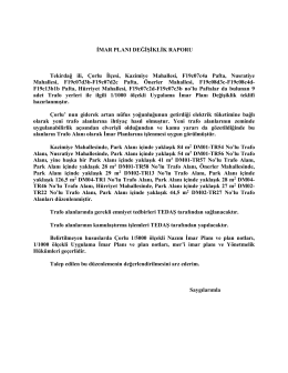çorlu 10-2015 trafo rapor