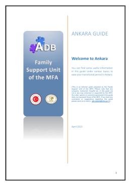 ANKARA GUIDE - Diplomatic Portal
