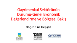 Dr. ALİ HEPŞEN - gelisenkentlerzirvesi.org