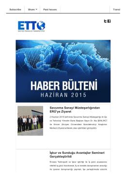 Haziran 2015 - Erciyes Teknoloji Transfer Ofisi