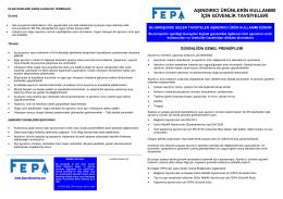 FEPA – Güvenlik Önerileri