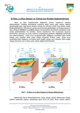 El Nino, La Nina Olayları ve Türkiye için Sıcaklık Değerlendirmesi