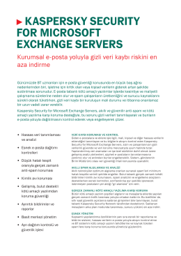 kaspersky securıty for mıcrosoft exchange servers