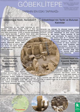 Göbeklitepe - Hisar School Blogs