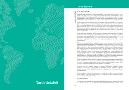 Tarım Sektörü Mevcut Durum Raporu (Haziran 2015)