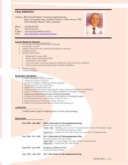 English - Bilecik Üniversitesi Blog