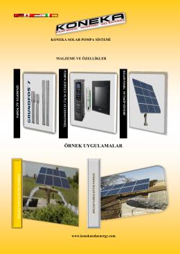 koneka solar pompa sistemi