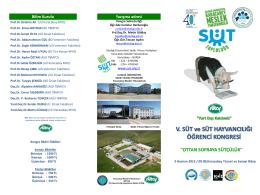 2015 Kongre Broşürü - 3. Süt ve Süt Hayvancılığı Öğrenci Kongresi
