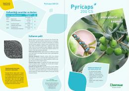 Pyricaps 200 CS kapsülasyon etki