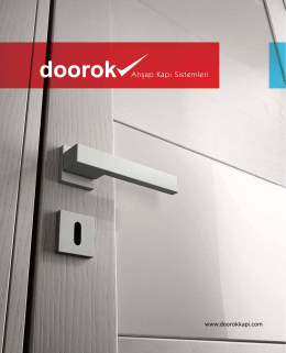 Publication  - Doorok Ahşap Kapı Sistemleri