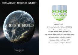 Uluslararası İlişkiler Bülteni Sayı - iktisadi ve idari bilimler fakültesi