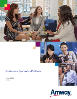 Uluslararası Sponsorluk Politikası 4.2015