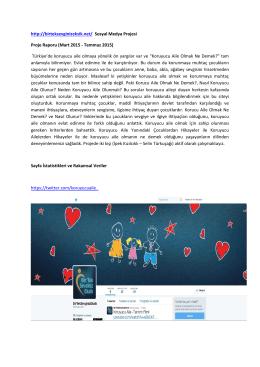 http://birteksevginizeksik.net/ Sosyal Medya Projesi Proje Raporu