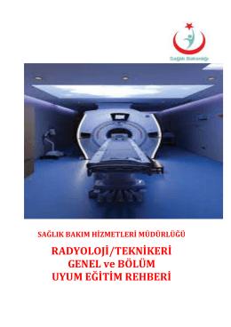 radyoloji uyum eğitim rehberi - Develi Hatice Muammer Kocatürk