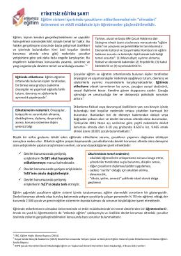 Politika Metni: Etiketsiz Eğitim Şart!