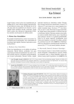 Kas Erimesi - ITF Nöroloji