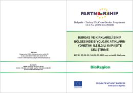 burgas ve kırklareli sınır bölgesinde biyolojik atıkların yönetimi ile
