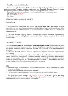 İnönü Üniversitesi - euygulama.dpb.gov.tr