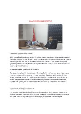 okul müdürümüzle röportaj - Fevzi Çakmak Anadolu Lisesi