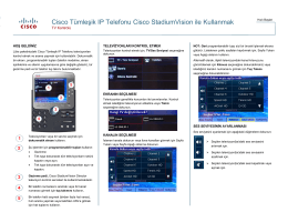Cisco Tümleşik IP Telefonu Cisco StadiumVision ile Kullanmak TV