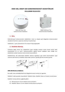 DMDX 500 Kullanım Kılavuzu