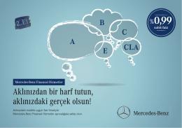 Aklınızdan bir harf tutun, aklınızdaki gerçek olsun! - Mercedes
