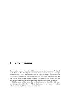 1. Yakınsama - Zaferercan.com.tr