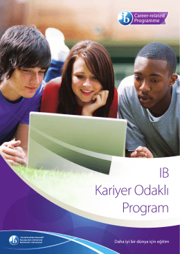 IB Kariyer Odaklı Program - International Baccalaureate
