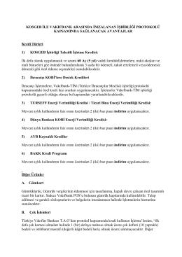 KOSGEB ile Vakıfbank Arasında İmzalanan İşbirliği Protokolü