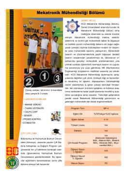 KOÜ Mekatronik Mühendisliği Bölümü, Devlet Üniversiteleri