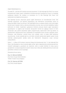 Güz Okulu 2015 davet mektubu