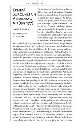 Ermeni Sürgünlerin Asimilasyo- nu (1915-1917)