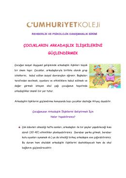 Rehberlik Birimi - İlkokul - Ocak Ayı Bülteni
