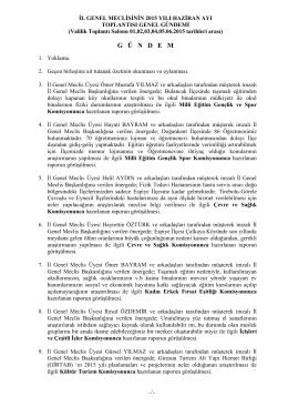 il genel meclisinin 2006 yılı nisan ayı