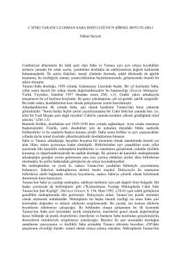 Cahit Sıtkı Tarancı - Ziya Osman Saba Dostluğunun Şiirsel Boyutları