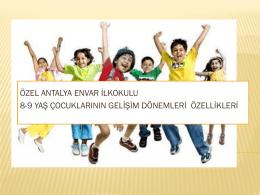 8-9 Yaş Çocuklarının Yaş Dönemi Özellikleri