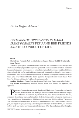 Evrim Doğan Adanur Patterns of Oppression in Maria Irene Fornes`s