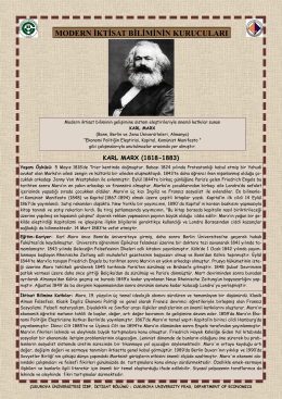 Karl Marx - CU Department of Economics